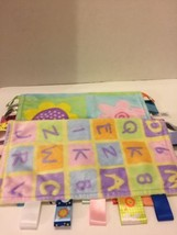 """Taggies (2) Baby Security Blankets Colorful Alphabet  Flowers 11 1/2"""" X 11 1/2 - $14.01"""