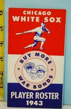 1943 Chicago White Sox Player Spring Training Roster Schedule WarTime Is... - $64.35