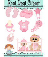 Baby Girl Clip Art - $1.25