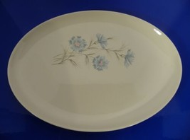 Taylor Smith Tst Blue Bachelor Button Boutonniere Oval Platter Ever Yours - $24.70