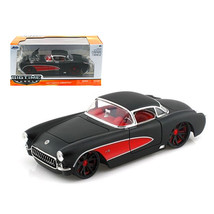 1957 Chevrolet Corvette Hard Top Primered Black With Red 1/24 Diecast Model Car  - $30.60