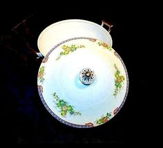 Tureen Serving Bowl with Lid AA18-1193G Vintage MeitoChina Hand Painted image 4