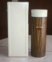 Vintage King Seeley 2 Pc Thermos Set Qt Sz Wood Grain Widemouth / Lunchbox - $9.41