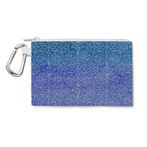 Sparkling Damask Canvas Zip Pouch - $15.99+