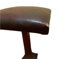 Primitive Vintage Handmade Wood Shoe Shine Stand Stool Post Footrest Foot Rest image 6