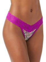 No Boundaries Women's Lace Thong Panties Size X-LARGE  Purple Floral V T... - $11.38