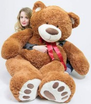 5 Foot Very Big Brown Teddy Bear Soft, 5 Feet Tall Giant Stuffed Animal Bear New - $136.20