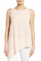 NWT! $58 GIBSON Pink Sleeveless Asymmetrical Hem Blouse Top - L - $24.24