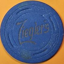 Vintage Casino Chip. Zieglers Rendezvous, Stockton, CA. 1950s. Q17. - $5.99