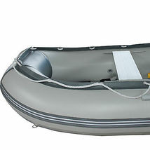 BRIS 10.8 ft Inflatable Boat  Raft Fishing Dinghy Tender Pontoon Boat Gray  image 9