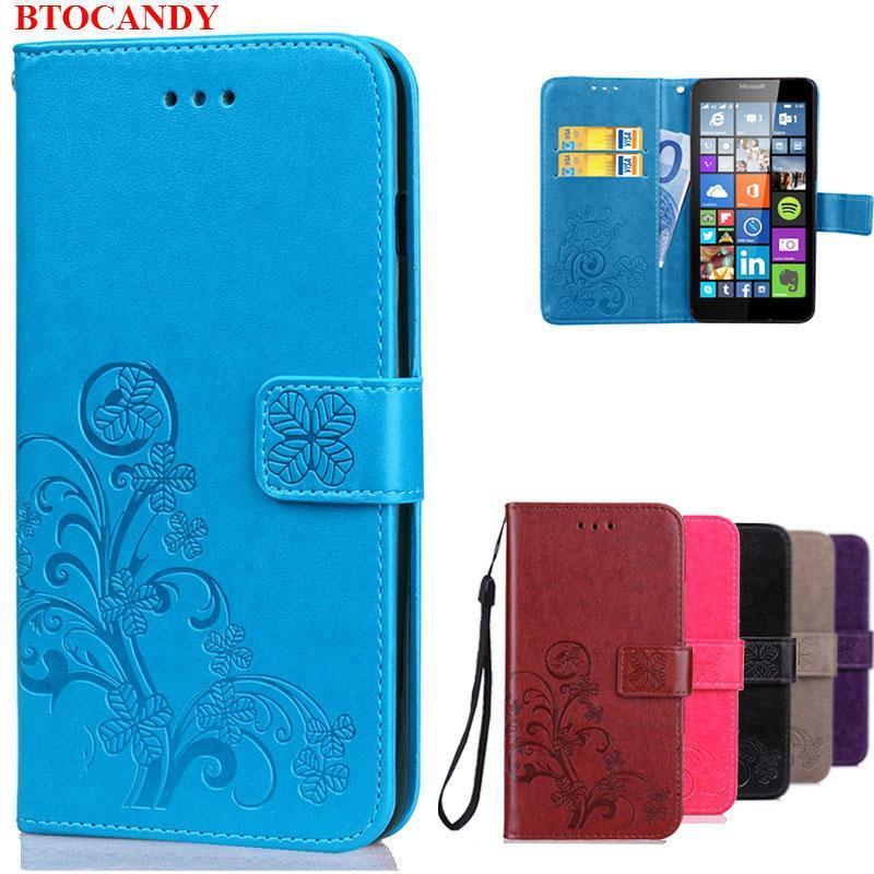 For Lumia 640 Case Microsoft Leather Flip Wallet Cover Case For Microsoft Lumia