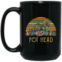 Vintage Succulent Plants Pot Head BM15OZ 15 oz. Black Mug - $18.00