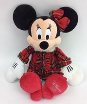 """Disney Minnie Mouse Red Plaid Pajamas Holiday 2011 Plush Stuffed Animal 18"""" - $12.12"""