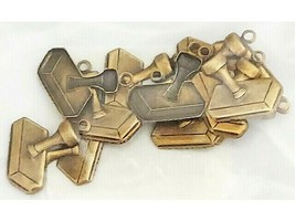 Boutique Trims Gold Stamp with Ring Charms, Set of 12 #52023