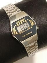 Nelsonic ladies vintage stainless steel rare digital watch - $14.89