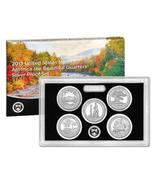 2013 U.S. MINT AMERICA THE BEAUTIFUL 5 COIN SILVER PROOF QUARTER SET W/COA - $54.80