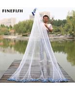 Fishing Cast Hand Net Bait Sinker Tire Trap Line Mesh Height Easy Throw ... - $60.80+
