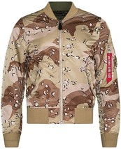 ALPHA INDUSTRIES MA-1 DOUBLE CAMO CHOCOLATE CHIP BLOOD CHIT FLIGHT JACKE... - $119.99