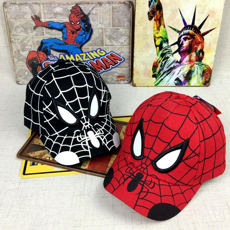 Kid Toddler Children Boy Girl Spiderman Peaked Snapback Hat Baseball Cap Hip-Hop image 3