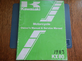 1983 83 Kawasaki KX80 Kx 80 E1 F1 KX80E1 KX80F1 KX80-E1 Owner Service Manual #2 - $11.83