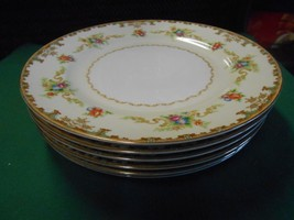 Outstanding Occupied Japan ALADDIN Fine China REGAL Set of 6 DINNER Plates - $52.06