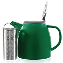 Tealyra - Drago Ceramic Teapot Green - 37oz 4-6 cups - Large Teapot with... - $42.77
