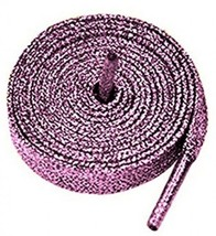 Coloured Metallic Sparkly Glitter Flat Shoelaces 12 Mm Wide And 120cm Lo... - $16.11