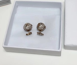"""Authentic Christian Dior Tribal Earrings """"DIOR TRIBALES"""" Crystal Moon Star Gold image 6"""