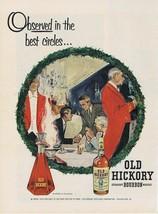 1954 Old Hickory Bob Peak Christmas Print Ad - $9.99