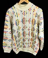 Vintage Coogi Australia 100%  Wool Sweater White made in Australia Size S - $315.25