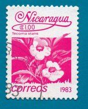 Nicaragua Postage Stamp - Local Flowers 1983 - Scott #1223   - $2.99