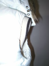 New NWT Womens S Banana Republic Faux Fur Hooded Vest White Removeable Sherpa image 12