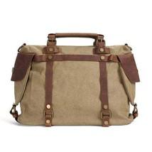 On Sale, Canvas With Leather Bag, Leather Briefcase, Messenger Bag, Shoulder Bag image 1