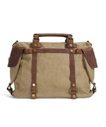 On Sale, Canvas With Leather Bag, Leather Briefcase, Messenger Bag, Shou... - $60.00