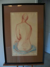 SIGNED LARGE NUDE FIGURE DRAWING OR STUDY - $127.73
