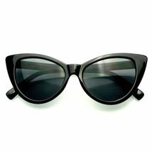 Hot Womens Classic Cat Eye Designer Fashion Shades Black Frame Sunglasses - $7.55