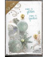 Taylor Swift Christmas Greeting Card set 18 modern glitter ornaments mod... - $19.77