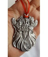 CHRISTMAS holiday HEAVY 3 ANGEL ORNAMENT • pre-owned • Nice condition 2.... - $7.84