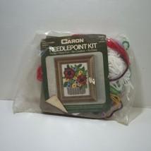 "Poppy Flower Basket Needlepoint Kit Caron 4"" x 5"" - $12.59"
