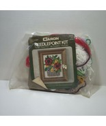 "Poppy Flower Basket Needlepoint Kit Caron 4"" x 5"" - $12.59"