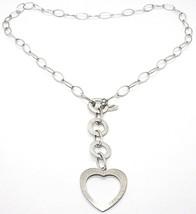 Collar Plata 925 ,Cadena Ovalados, Círculos y Corazón, Colgantes, Satinato image 1
