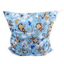 """Monkey Wet Bags Waterproof Diaper Bag Multi-function Nappy Bag -14""""11"""" Blue"""