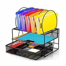 Oakome Desk Organizer Tray, Desk Files Drawer Organizer Set with Double ... - $33.92