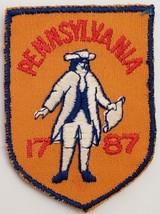 "Vintage Pennsylvania 1787 Souvenir Embroidered Patch 2-3/4"" x2"" - $3.95"