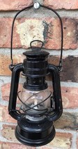 Vintage Anchor Brand Small Metal Hanging Lantern Glass Globe - $17.50