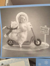 Ashton Drake Snow Baby Express Porcelain 1995 in Box Doll Bear Scooter 9... - $50.48