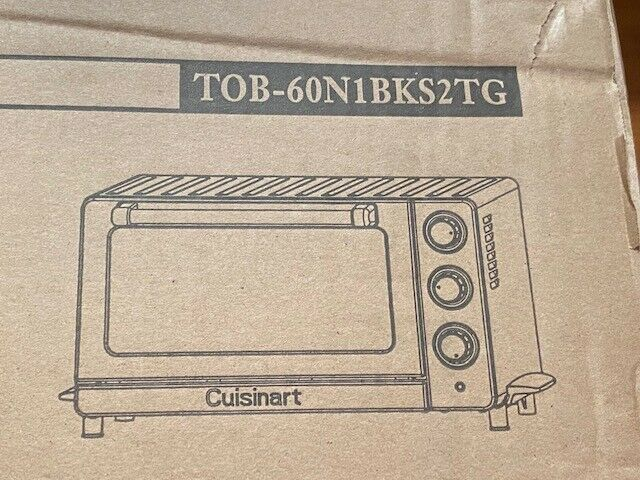Cuisinart TOB-60N1BKS2 Convection Toaster Oven, 086279133458, Black Stainless