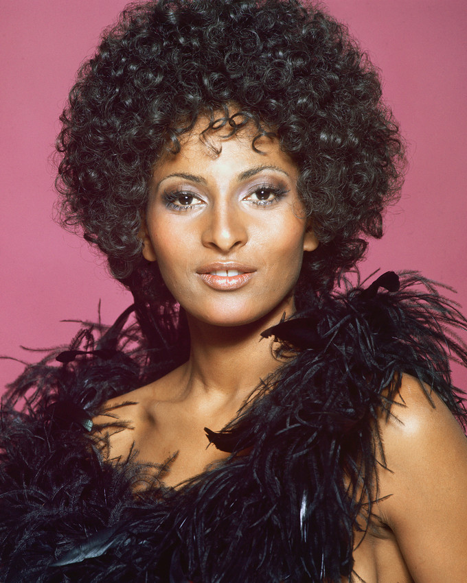 Primary image for Pam Grier Striking Exotic Glamour Portrait bare shouldered 1970's 16x20 Canvas G