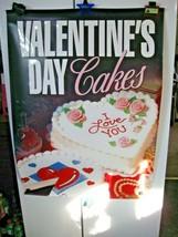 "Vintage 1998 Dairy Queen Valentines Cakes Poster 31"" X 44"" Ice Cream-Blizzards!! - $29.95"