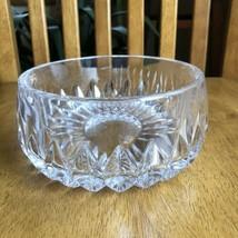 "Gorham Nachtmann Althea 7 5/8"" Lead Crystal Fruit Bowl Vertical Cut - $34.65"